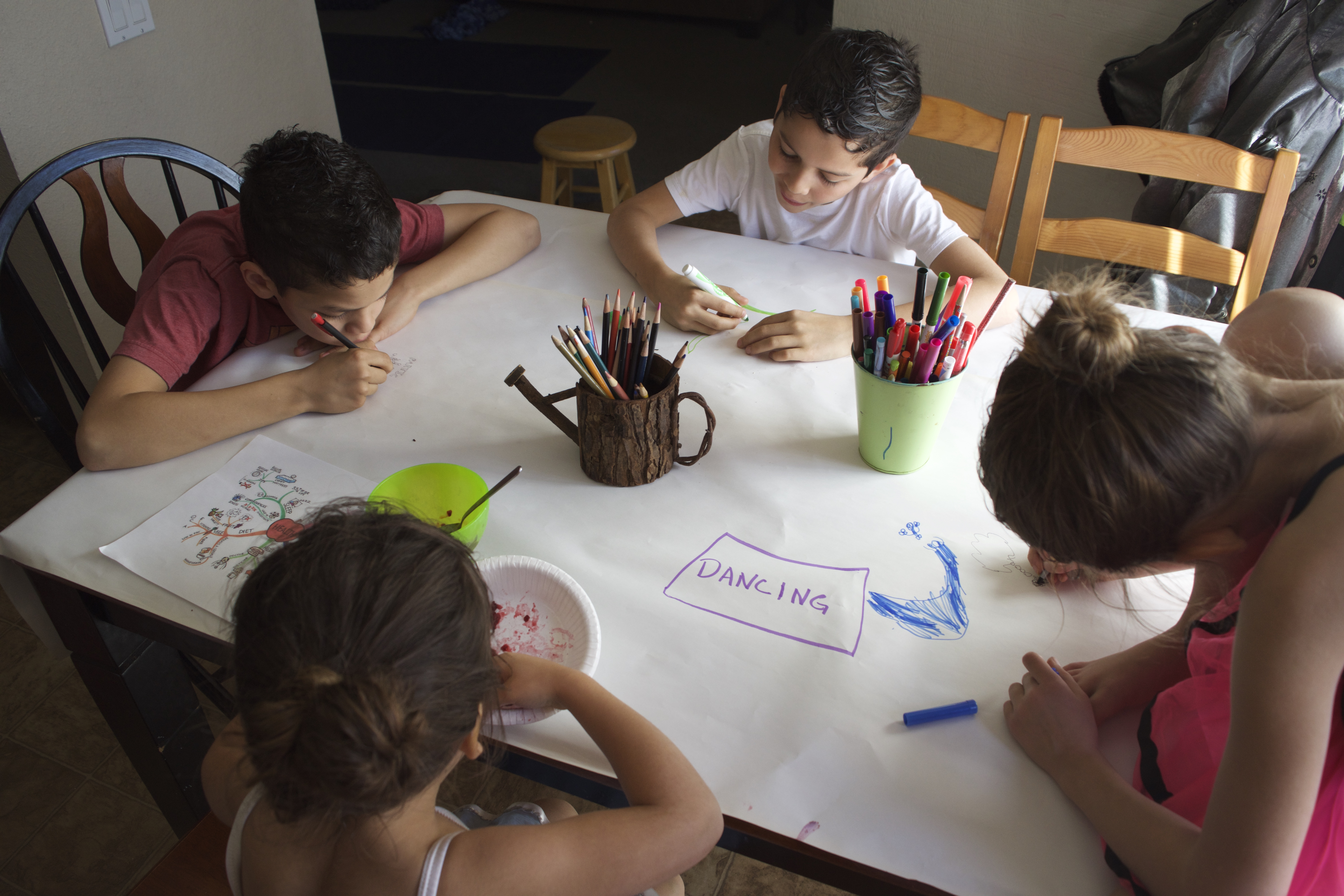 Mind mapping is a creative way to look at and organize ideas, and all ages can do it!