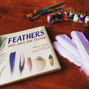 Teaching kids symmetry with Testors acrylic paint, fun with feathers, letter f