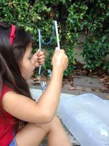 Bubble wand, step 6a