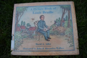 This is the book we read from the library on Louis Braille.