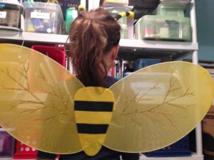 Back of the bee