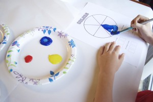 Color wheel activity for kids