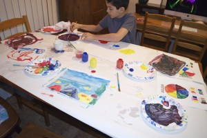 Free painting with Crayola colors